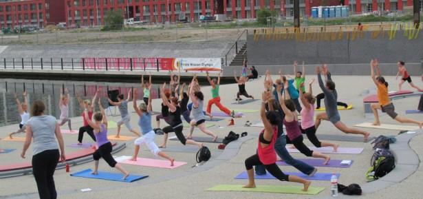 Yoga Workshop 108 Sonnengrüße Haffentreppe Offenbach