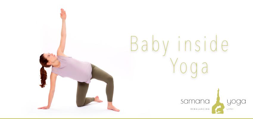 Baby inside Yoga in der Schwangerschaft